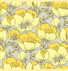 Elegant yellow rose flower seamless pattern vector
