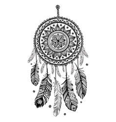Ethnic american indian dream catcher vector