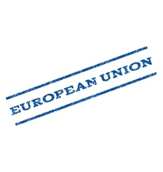 European Union Watermark Stamp vector