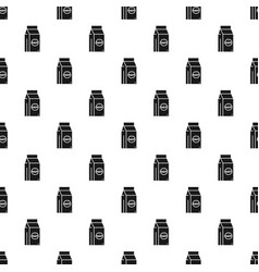 fast food lunchbox pattern seamless vector image