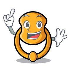 Finger vintage door knocker on mascot cartoon vector