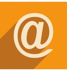 Flat with shadow icon and mobile applacation mail vector