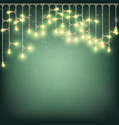 glowing light bulbs new year christmas background vector image