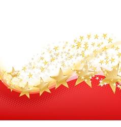 golden stars flying vector image