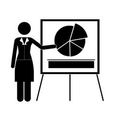 Graph chart icon image vector