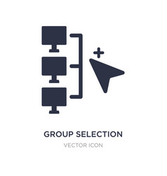 Group selection icon on white background simple vector