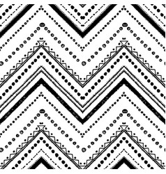 Hand drawn pattern zigzag and stripe line vector