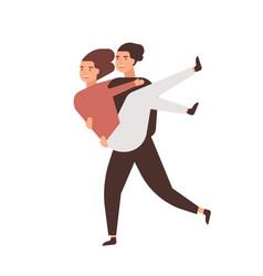 Happy romantic relationship flat vector