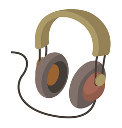 headphone icon cartoon style vector image