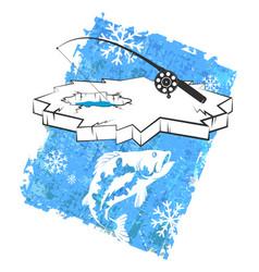 Ice fishing design vector
