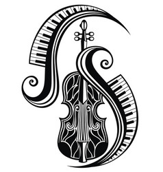 icon of violin vector image
