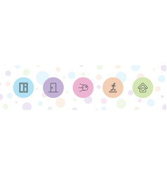 Inside icons vector
