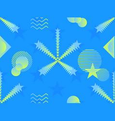 liquid color shape seamless pattern geometric vector image