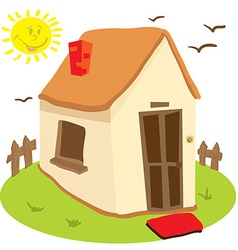 little house vector image