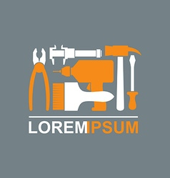 Logo of Construction tools Carpentry tools to vector
