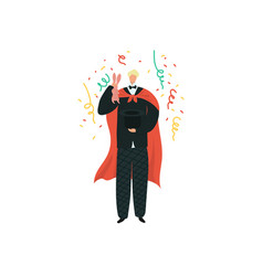 magician artist entertainment performance show vector image