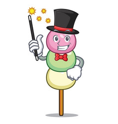 Magician dango mascot cartoon style vector