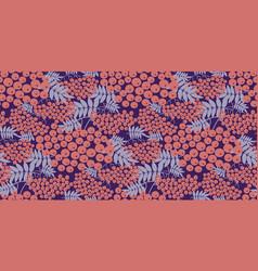 modern pink rowanberry seamless pattern vector image