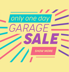 Modern template for garage or yard sale event vector