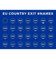 Names for EU exits Members Brexit Frexit vector