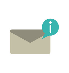 new incoming message icon image vector image