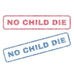 No child die textile stamps vector