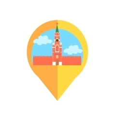 On-line Map Marker With Moscow Kremlin vector