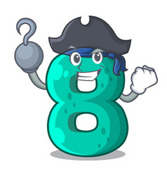 pirate raster version cartoon shaped number eight vector image