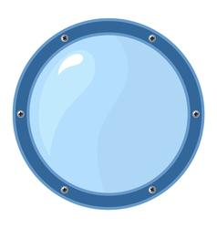 Porthole on white vector