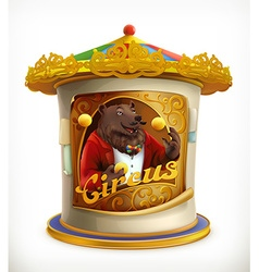 poster circus funny animals icon mesh vector image