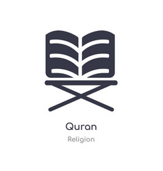 Quran icon isolated quran icon from religion vector