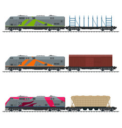 Railway and container transport vector