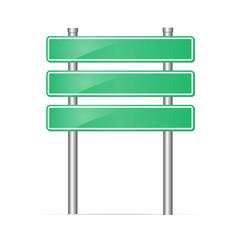 road sign blank mockup vector image