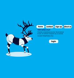 robot reindeer artificial intelligence concept vector image