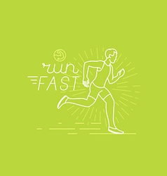 Running and sport motivation poster vector