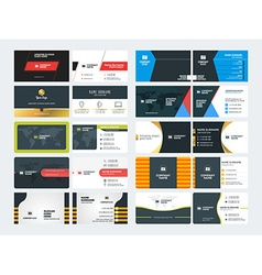 Set creative and clean corporate business card vector