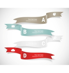 Set ribbons infographic design vector