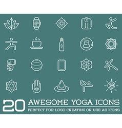 set yoga zen sport elements and fitness healthy vector image