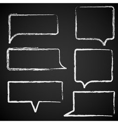 Sketch of speech bubbles chalked vector image