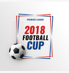 Soccer game championship tournament cup background vector
