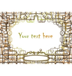 steampunk frame vector image