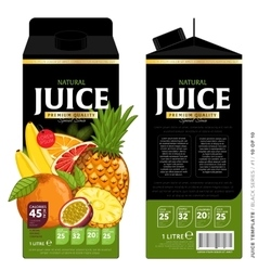 Template packaging design tropical juice vector