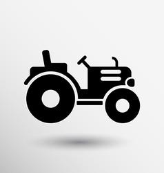 Tractor icon button logo symbol concept vector image