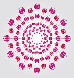 Tulip mandala vector image vector image