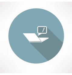typing on the notebook icon vector image