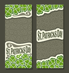 Vertical banner for st patricks day vector