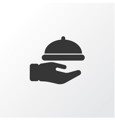 waiter icon symbol premium quality isolated vector image