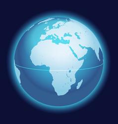 World globe map africa arabia centered vector