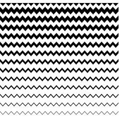 Zigzag wavy irregular lines pattern horizontally vector