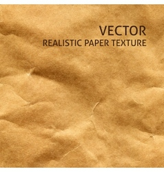 Crumpled craft paper background vector image